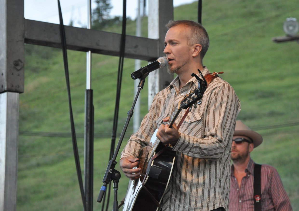 Blues singer JJ Grey sings to a large crowd with his band Mofro on Friday at the Free Summer Concert Series event at Howelsen Hill.
