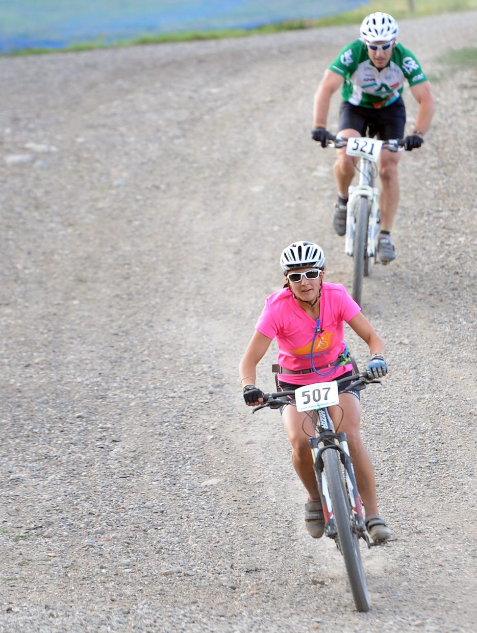 Emily Colin rides Wednesday in the Soul of Emerald Town Challenge race in Steamboat Springs.