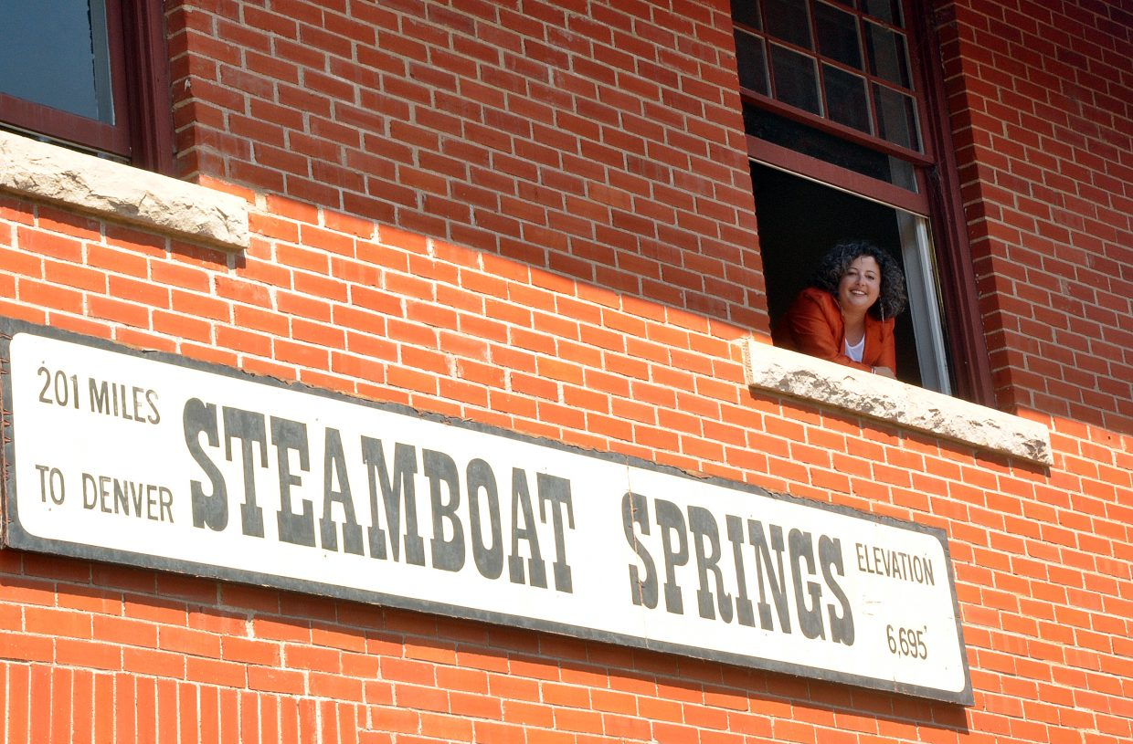 Heather Shore, the new executive director of the Steamboat Springs Arts Council, is at home in the Depot Art Center.
