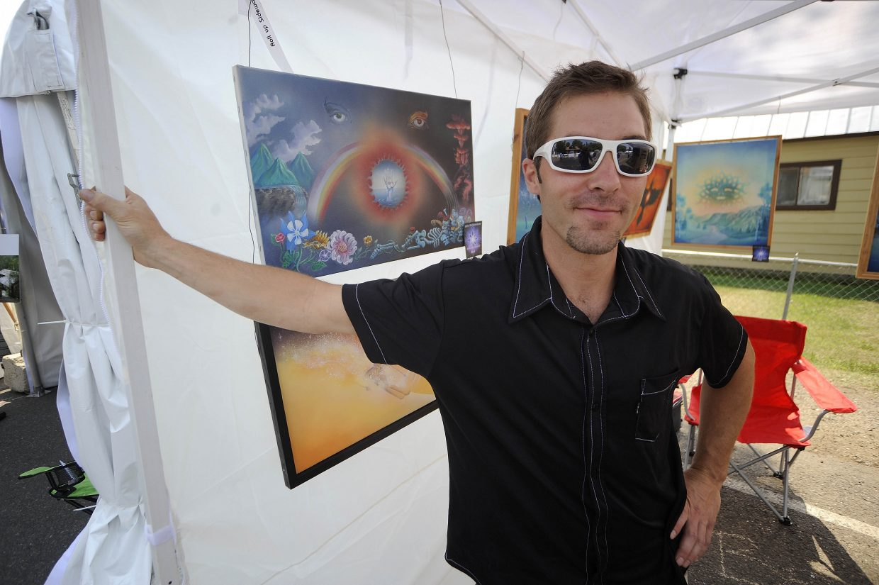 Dan Benjamin is one of the local artists featured at the 2012 All Arts Festival's Yampa River Art Stroll on Yampa Street. The event goes through Sunday in downtown Steamboat.