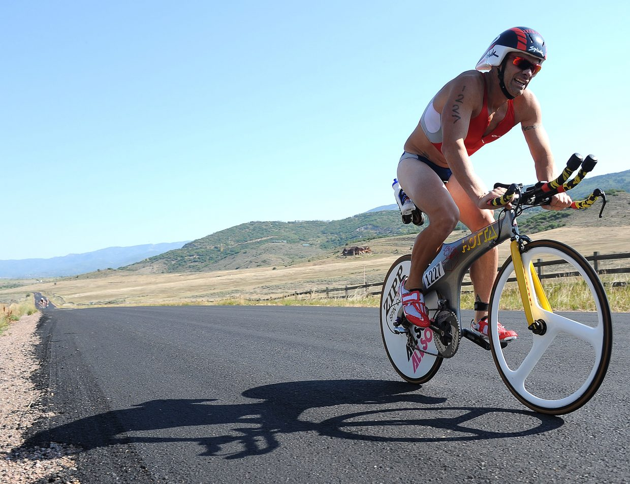 Stewart Nixon races Sunday in the Steamboat Triathlon.