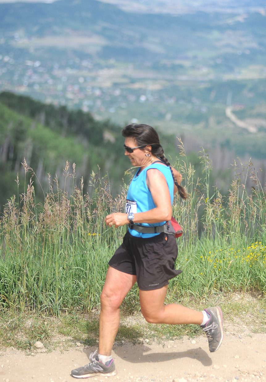 Betsy Frick runs Sunday in the Continental Divide Trail Run in Steamboat Springs.