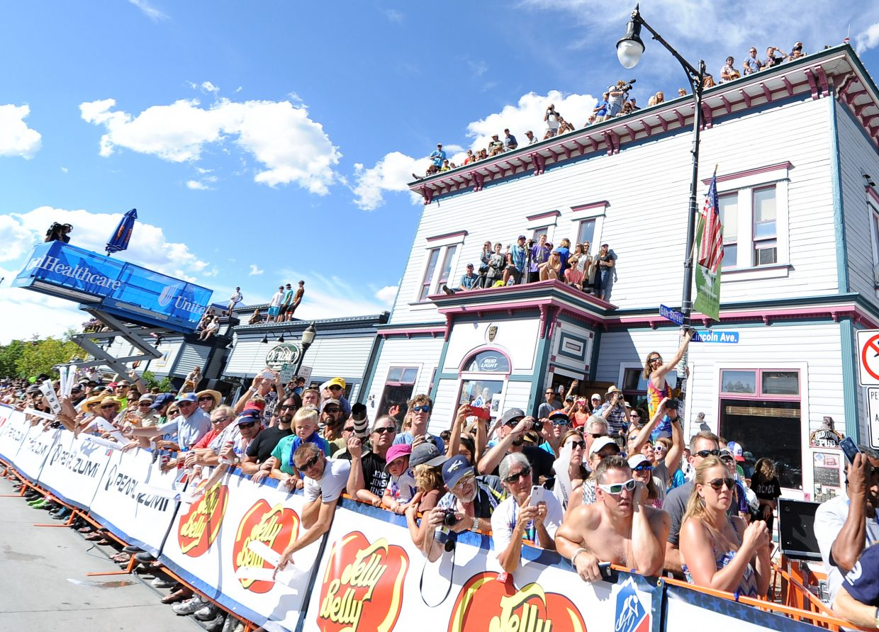 Thousands packed into downtown Steamboat Springs as the USA Pro Challenge approached Wednesday. Fans used anything and everything to get a better vantage point.