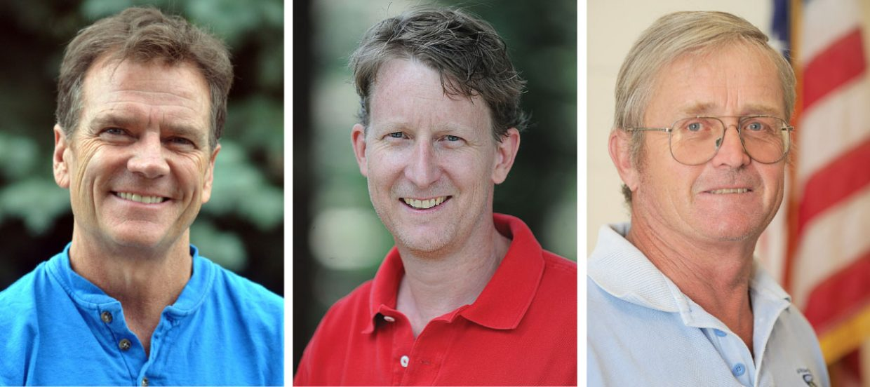 Steamboat Springs City Council candidates, from left, Tony Connell, Clark Davidson and John Fielding. Toby Spikes is not pictured.