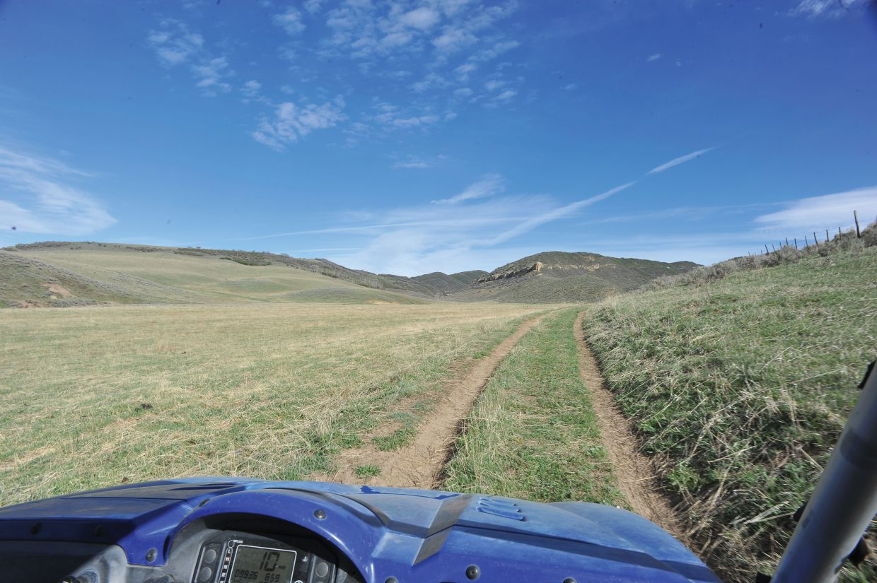 A private road leads to the area where Shell plans to build and operate an oil well on property owned by longtime Routt County resident Frank Camilletti and his family.