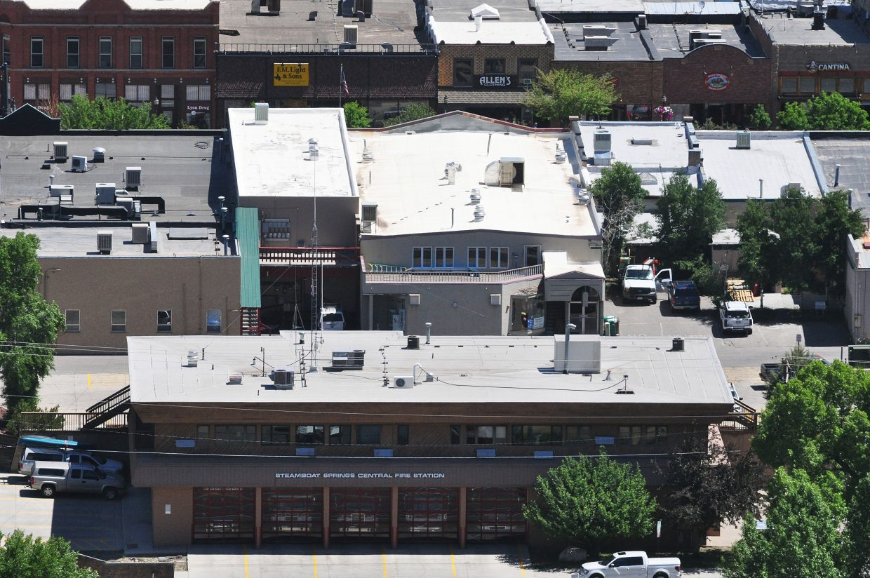 One of the police station options being considered is either a remodel the current police headquarters downtown or replace it with a new station on the lot.