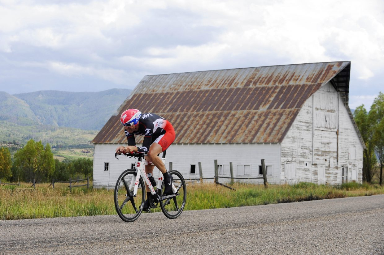 Steamboat Springs cyclist Matthew Charity competes in the Aspire Time Trial on Saturday during the first stage of the three-day Steamboat Springs Stage Race. The Moots Road Race begins at 7:30 a.m. Sunday and will take the nearly 400 competitors out on Routt County Road 33 for a 35-, 62- or 80-mile ride.