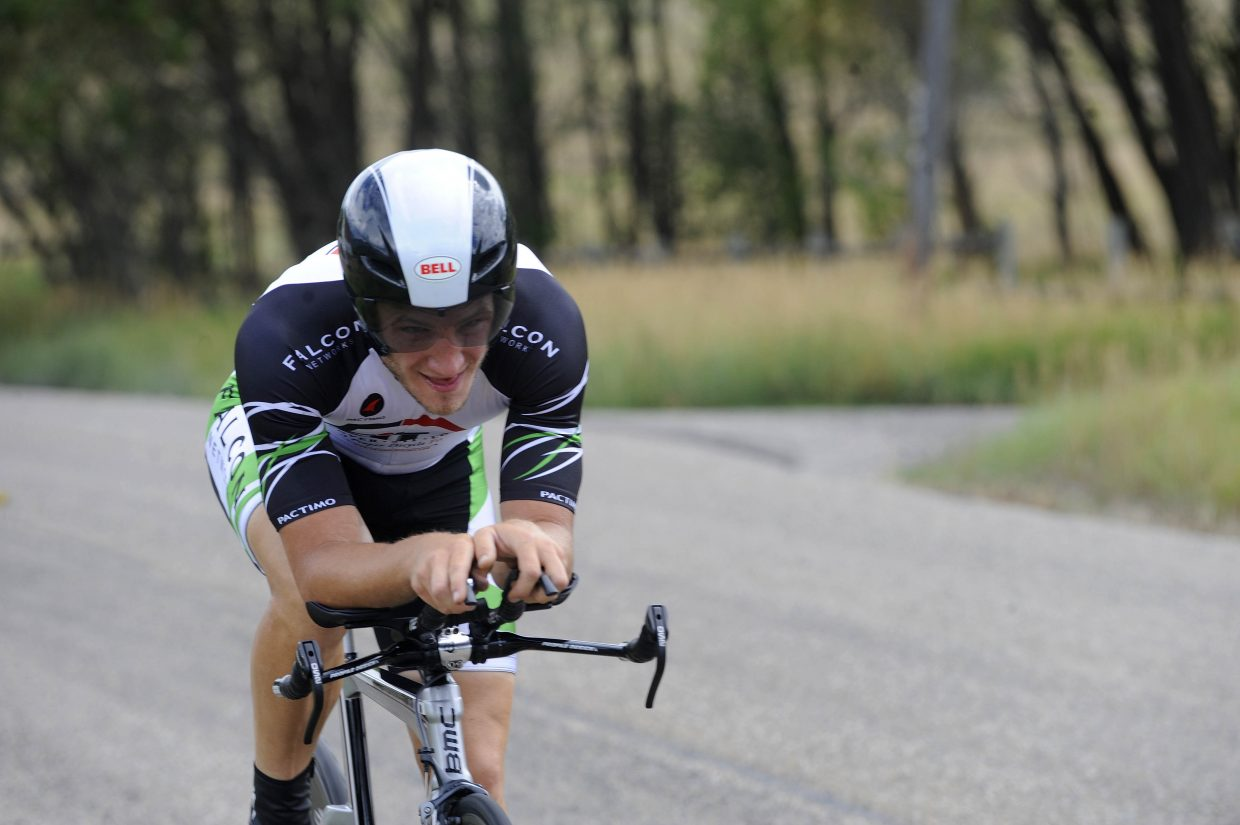 Boulder resident Brian Firle competes in the Aspire Time Trial on Saturday during the first stage of the three-day Steamboat Springs Stage Race.