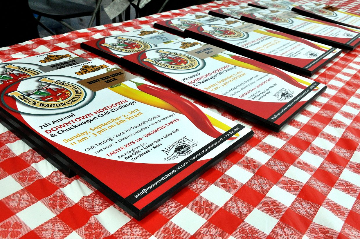 Awards were handed out Sunday for the best salsa, cornbread and red and green chilies during the seventh annual Chuck Wagon Chili Challenge.