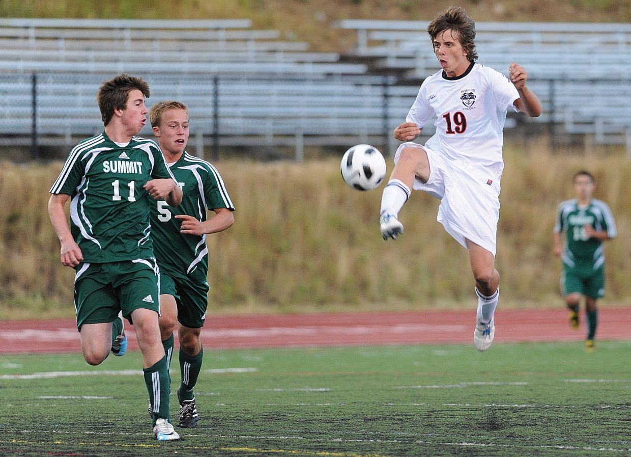 Steamboat junior Mac Noel scored the Sailors' first goal in the Sept. 6 game against Summit County. Noel, the team's top scorer, was named to the Western Slope League's first-team all-league team.