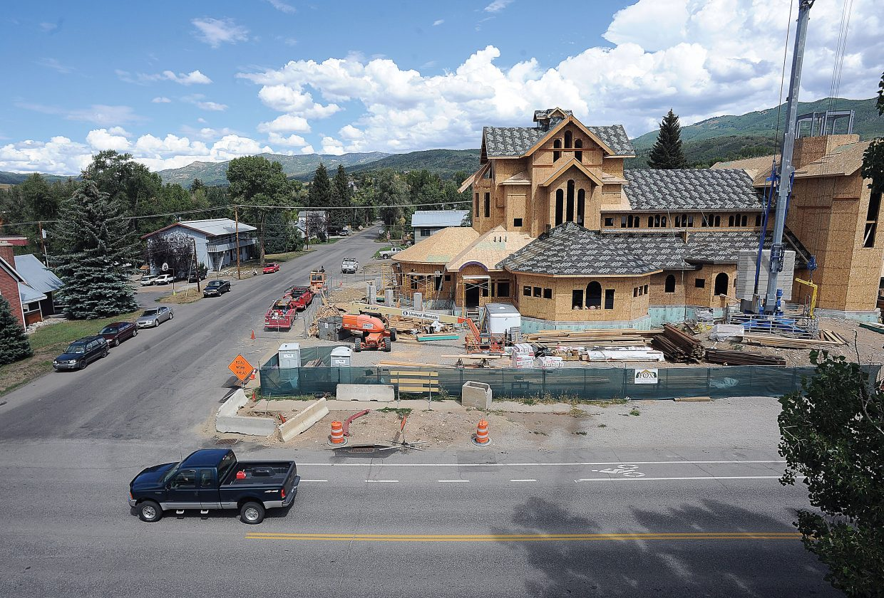 Work is progressing on the Holy Name Catholic Church in downtown Steamboat Springs.