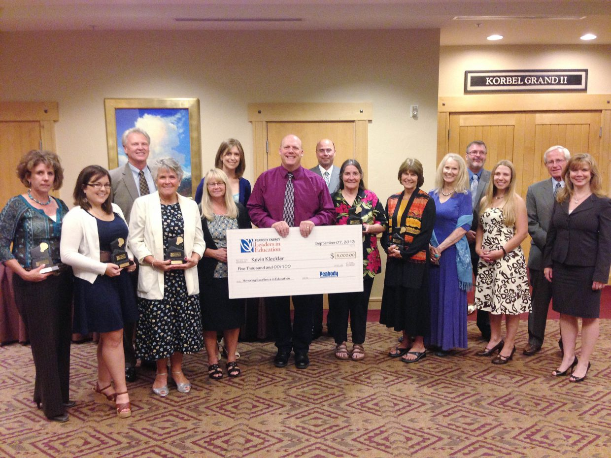 During the past year, 12 educators in Northwest Colorado were recognized as part of Peabody Energy's Leaders in Education program.