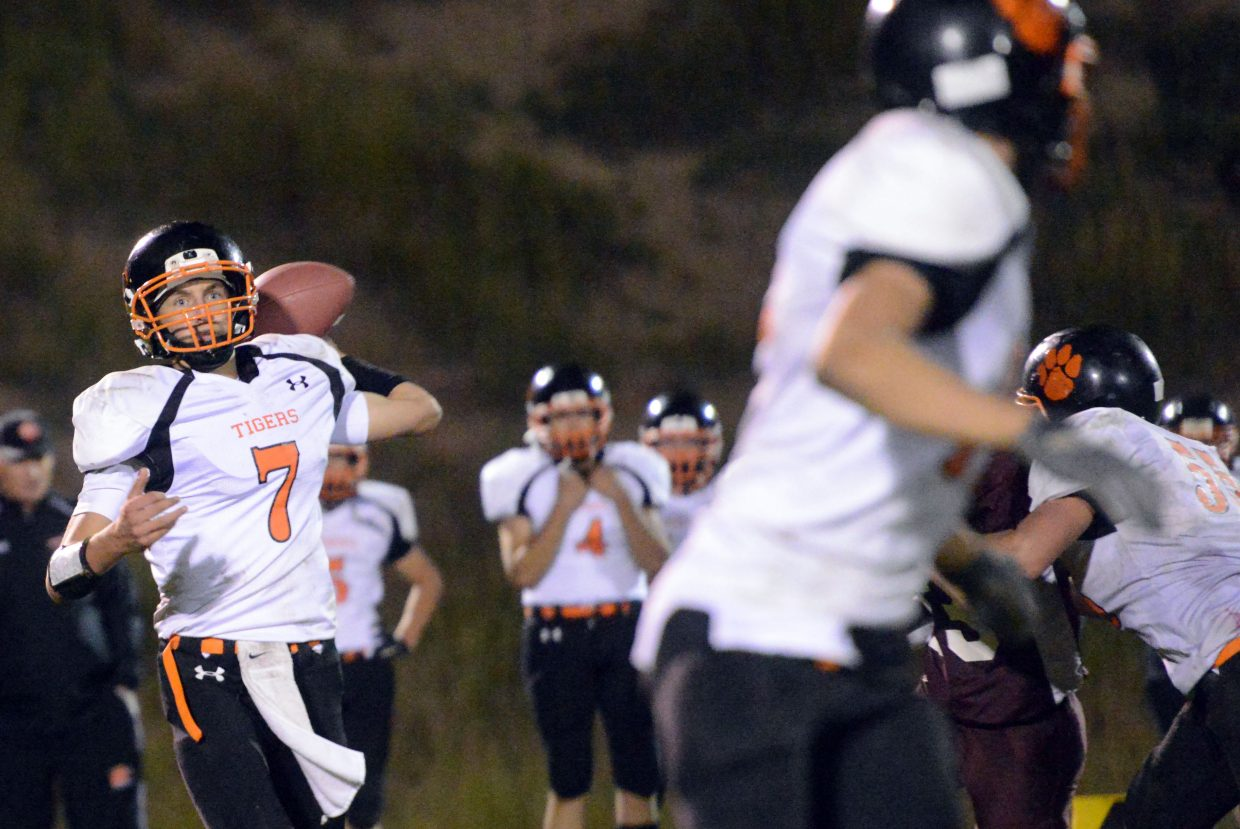 Isaac Bridges winds up for a pass Friday against Soroco.
