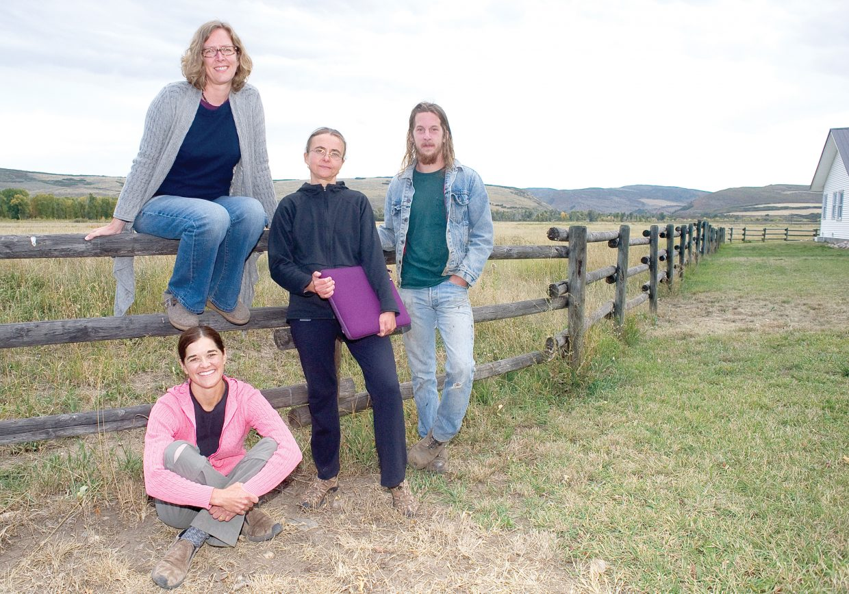 Carpenter Ranch will be the starting point for an Artposita and barn dance Saturday featuring several artists who lived in the Hayden area as part of Colorado Art Ranch's artist-in-residence program this summer. Amy Laugesen, clockwise from bottom front, Karen Olson, Sonja Hinrichsen and Paul Wood are four of the six artists.