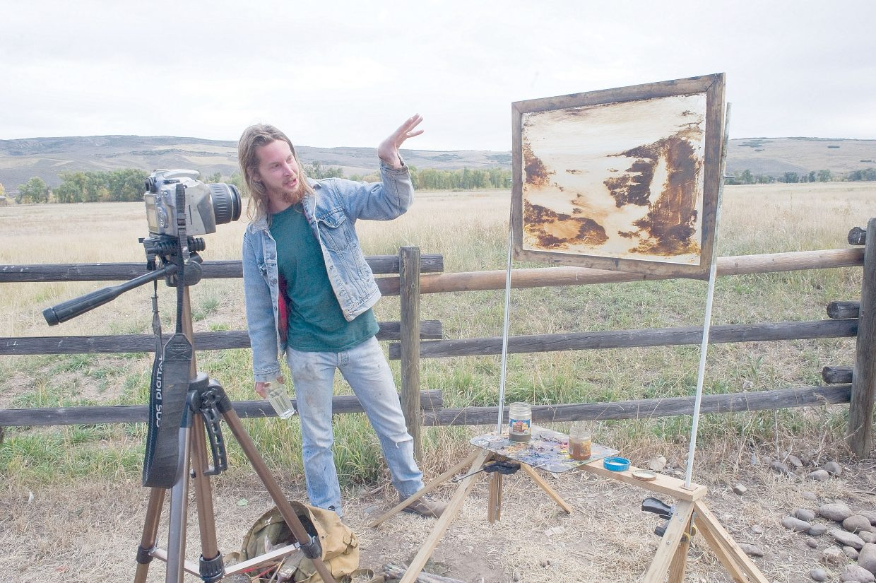 Artist Paul Wood has been living at Carpenter Ranch this summer. His animated video installation project will be featured at the Artposita and barn dance Saturday in Hayden. The event will be at Carpenter Ranch.