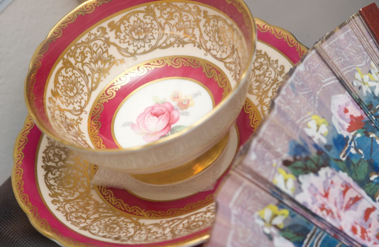 This antique teacup was part of a Faye Allen's collection. The cup, photographs and many more items are on display at the Tread of Pioneer Museum in Steamboat Springs.