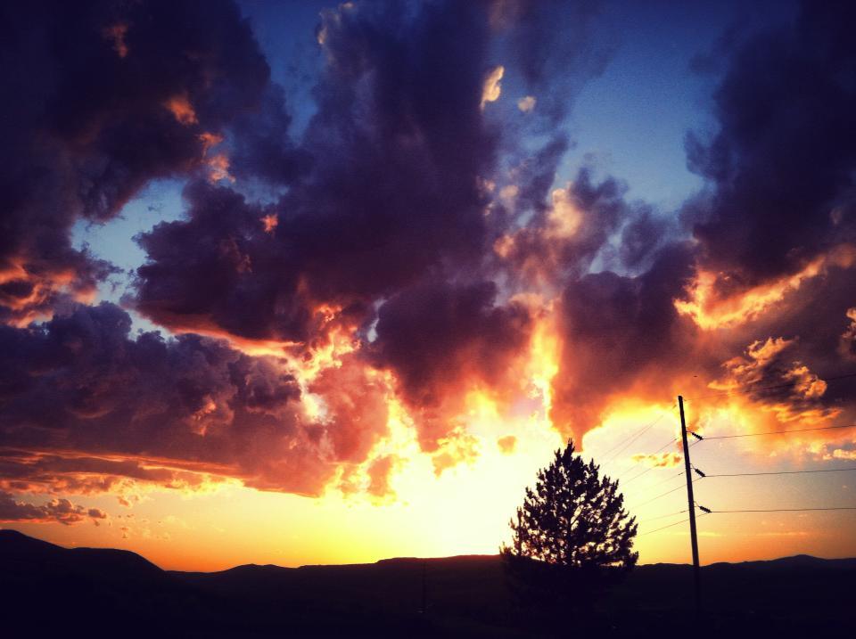 Saturday night sunset, no fire needed. Submitted by: Maryedith Davies
