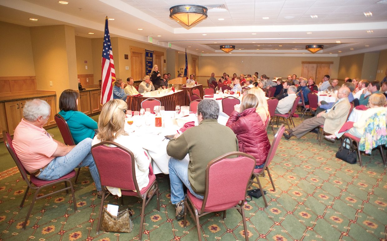 City Council candidates address the Rotary Club of Steamboat Springs during the group's Tuesday luncheon.