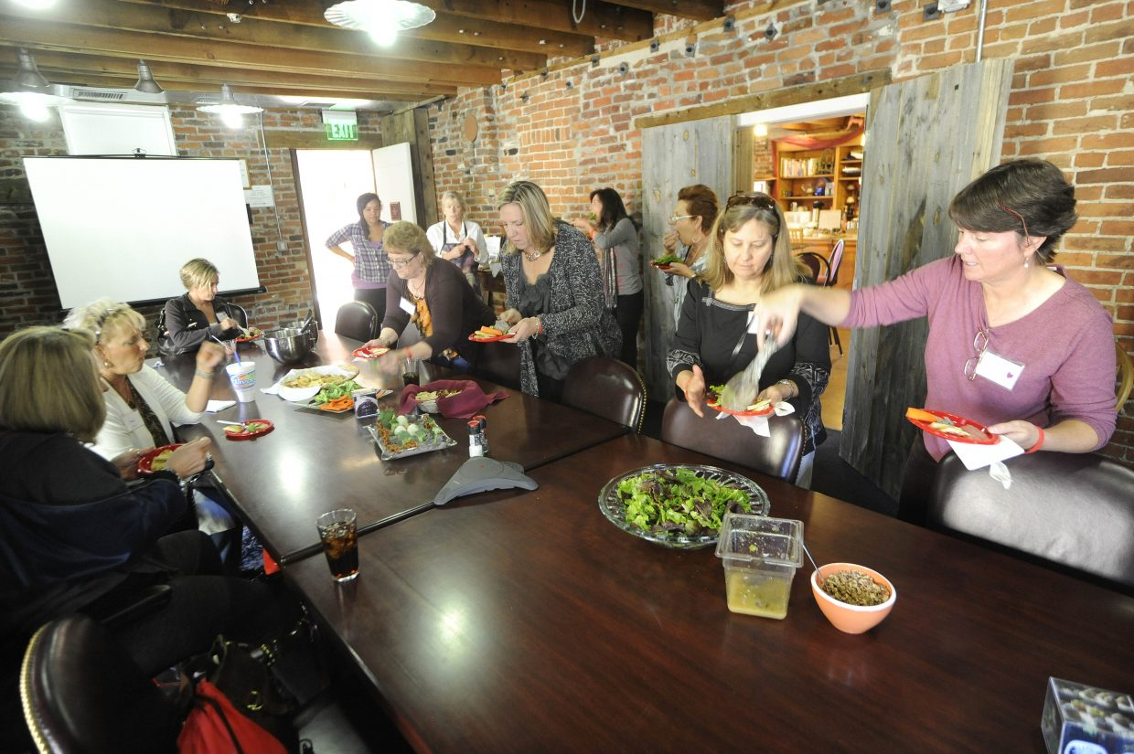 Sisters in Steamboat participants get to taste their creations made Saturday at the City Cafe.