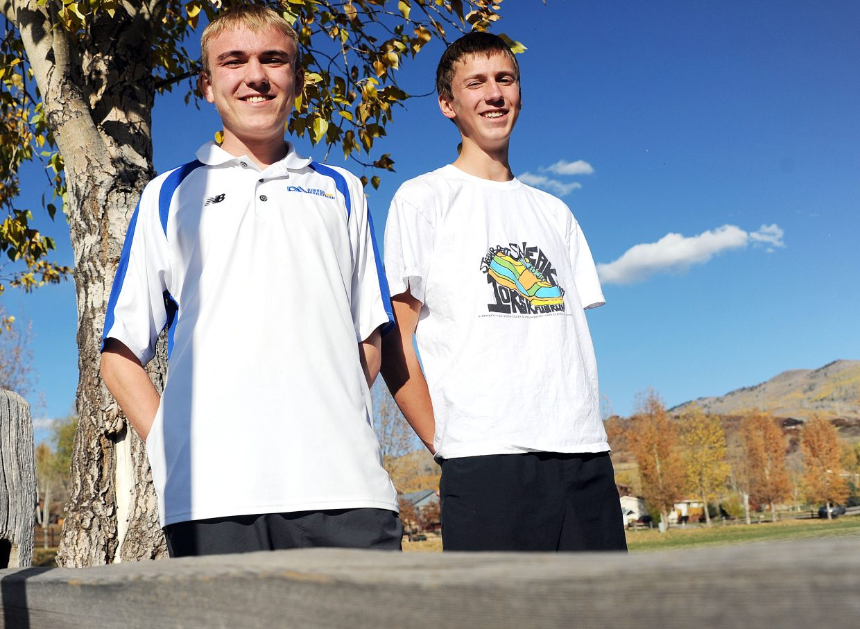 Steamboat Springs High School seniors Scott Powers, left, and Asher Rohde qualified for next weekend's state cross-country meet.
