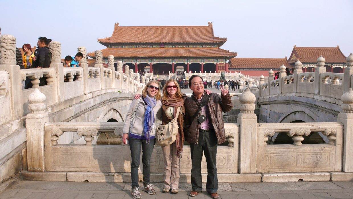 Jaimé Bell, center, and her sister, Katie, get a picture taken at the Forbidden City in Beijing. The Steamboat Pilot & Today and the Steamboat Springs Chamber Resort Association sponsored a trip to China for local teacher Jaimé Bell, who is touring the country with a group of fellow Routt County residents.