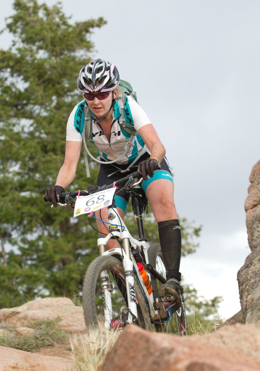 Bec Bale raced Saturday and Sunday, winning the 25 Hours in Frog Hollow endurance mountain bike race in Hurricane, Utah. Bale said the conditions were horrible, with freezing temperatures and wind-blown sand, but she still had a great time.