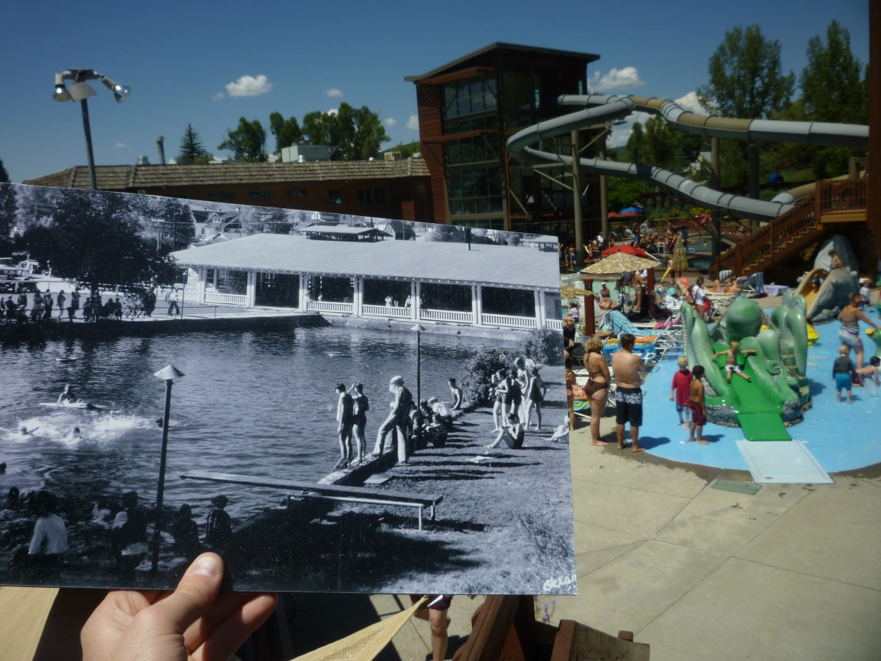 Remember when Old Town Hot Springs was just a pool? This photo, circa the late 1930s, is courtesy of the Tread of Pioneers Museum.