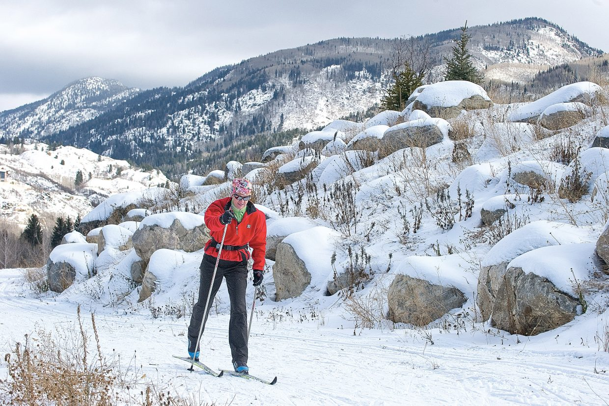 Jenette Settle glides along one of the trails open at the Steamboat Ski Touring Center, which offers a few alternative options to ring in the new year.