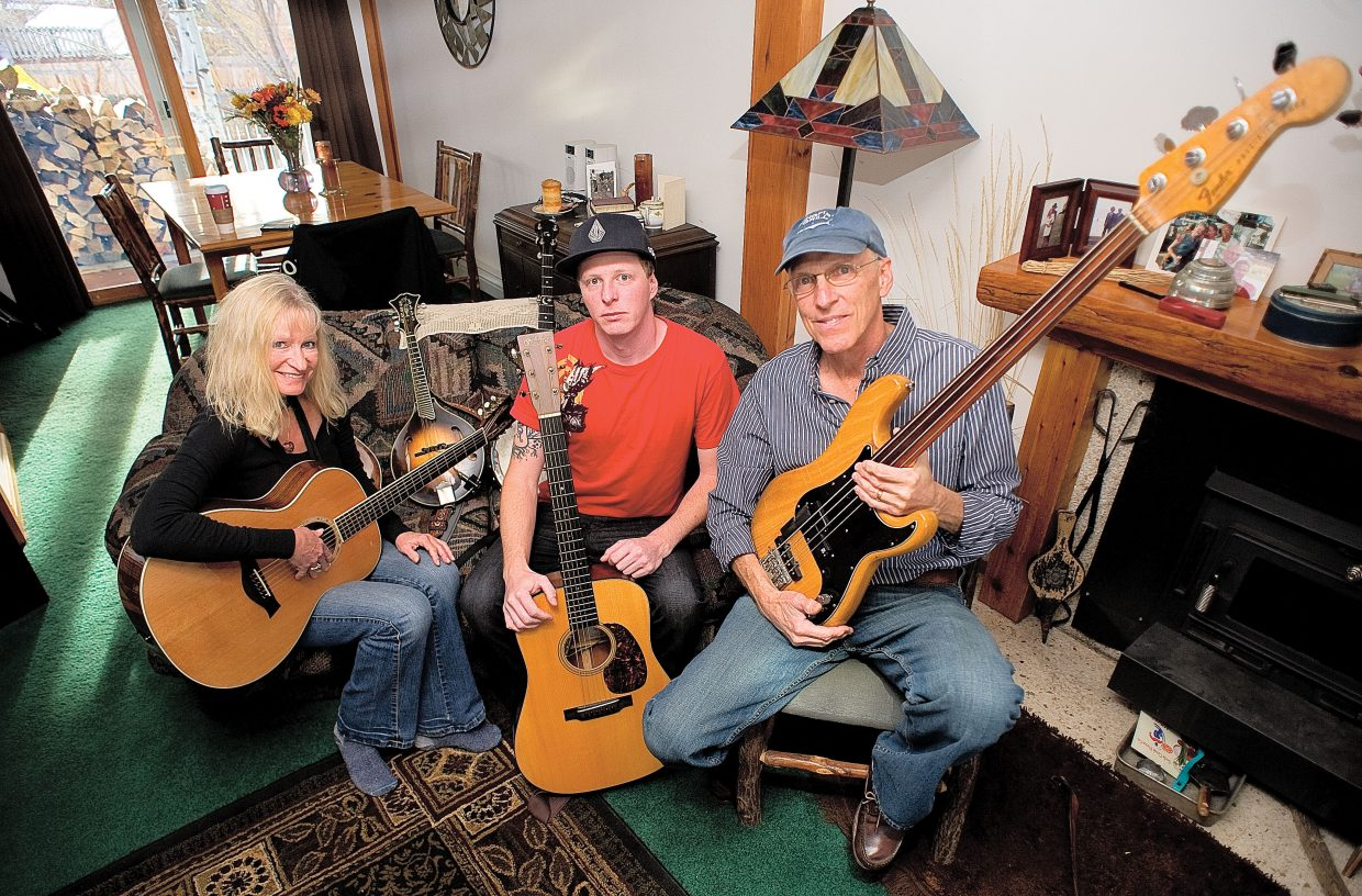 The Koebnick family, including Dan, center, stepmom, Deanna, and father, Chris, have been an integral part of the Steamboat Springs music scene since Chris moved here in 1974. Chris and Deanna play in Sundog and attend weekly jazz nights at Bella's Wine Bar. Dan, who also plays at jazz nights, plays guitar in the Bill Smith Band.