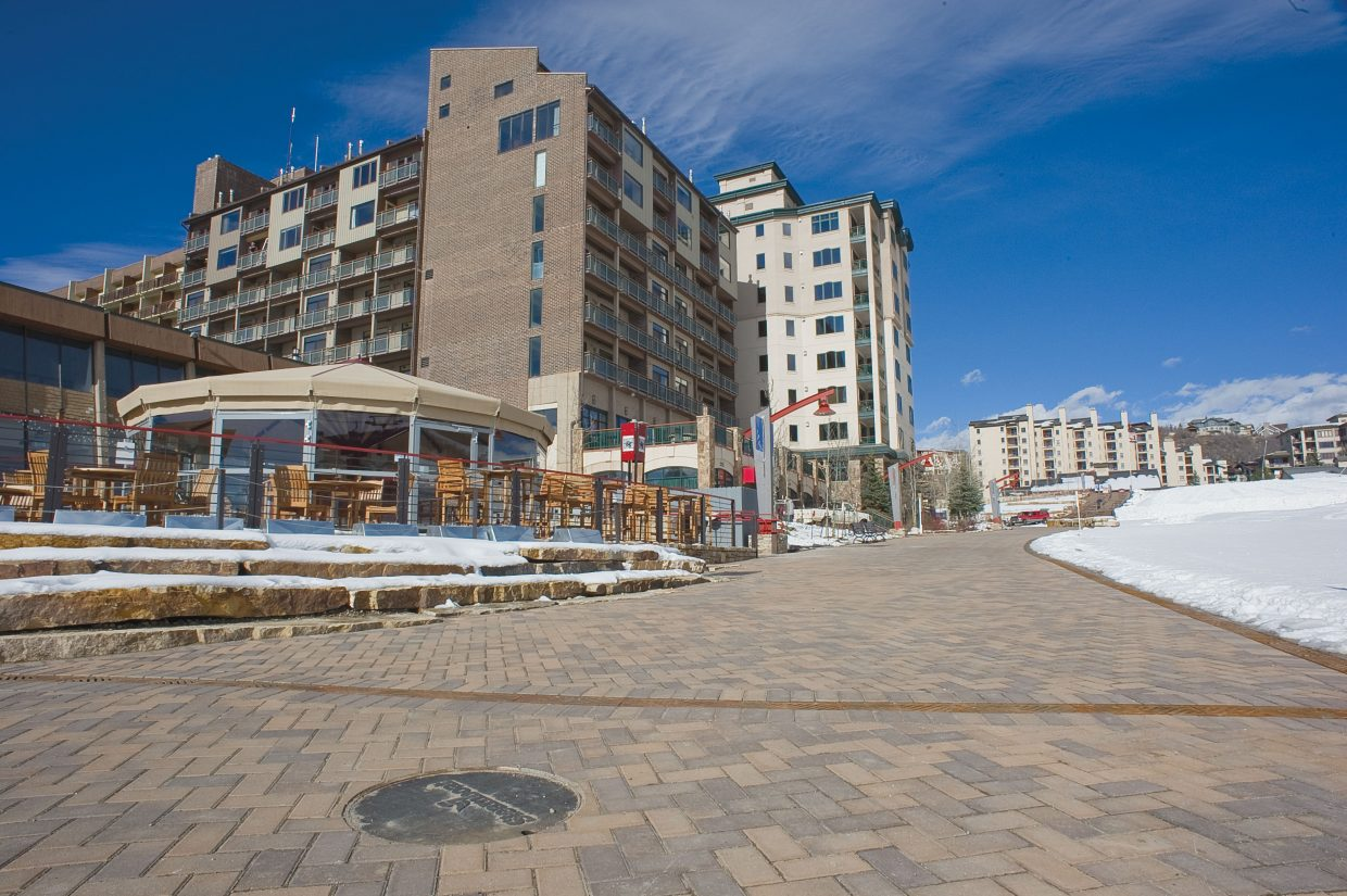 With Opening Day less than a week away, the new promenade at the base of Steamboat Ski Area is nearly ready for visitors.