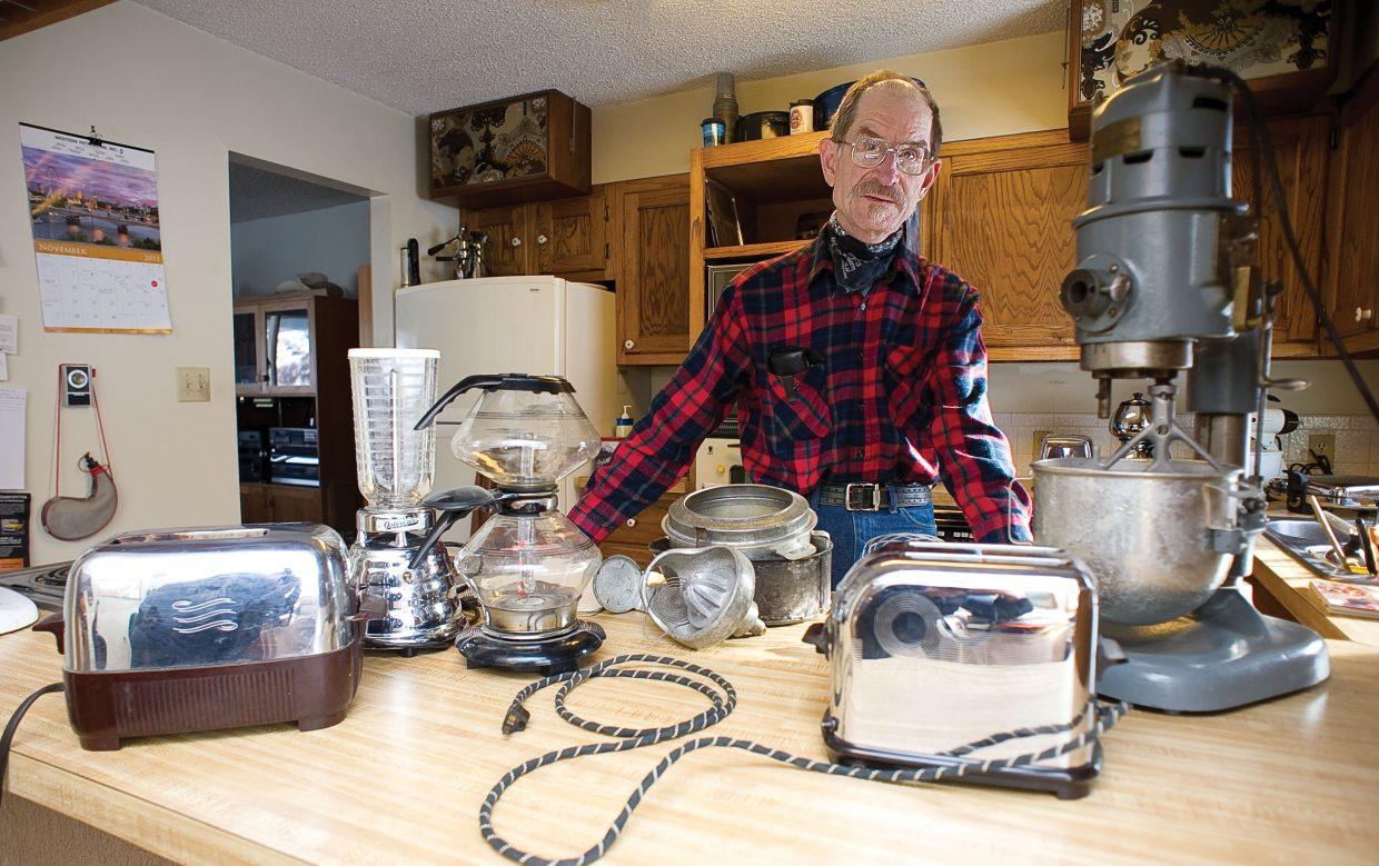 Longtime Steamboat Springs resident Bill Fetcher appreciates a well-made appliance. Fetcher has made a hobby of maintaining, repairing and rescuing vintage appliances including a KitchenAid model H-5 purchased by his grandparents in 1925, an Oster 10 blender from 1965, a 1938 toaster by Toastmaster and a General Electric toaster from 1950. There also is a 1943 General Electric glass vacuum coffee maker that was a wedding gift to his parents. These are just a few of the items he has collected and maintained throughout the years.