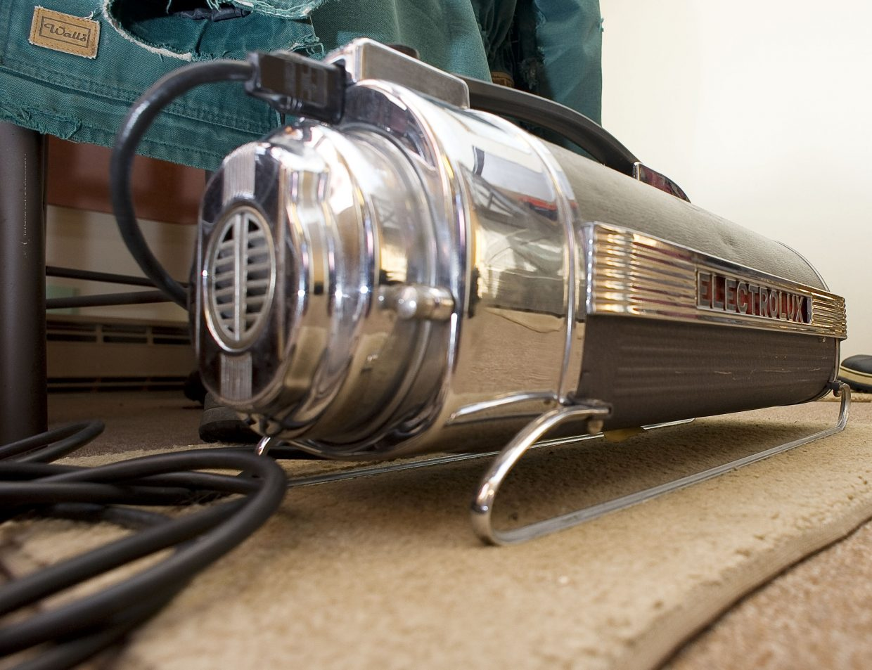 This Electrolux vacuum cleaner, circa 1950, is just one of the many vintage appliances that longtime Steamboat Springs resident Bill Fetcher has rescued throughout the years.