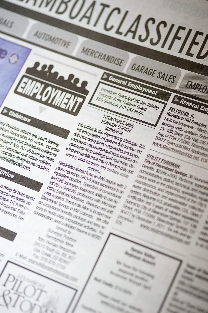 Routt County's unemployment rate jumped about 0.5 percent from September to October but still is significantly lower than the unemployment rate from a year ago.