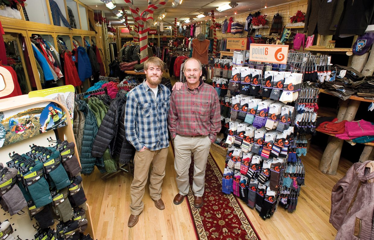Kris and Tod Allen stand inside the Allen's Clothing store in Steamboat Springs. Kris is the fourth generation of the Allen family to work in the clothing store, which has become a fixture in the downtown retail market.