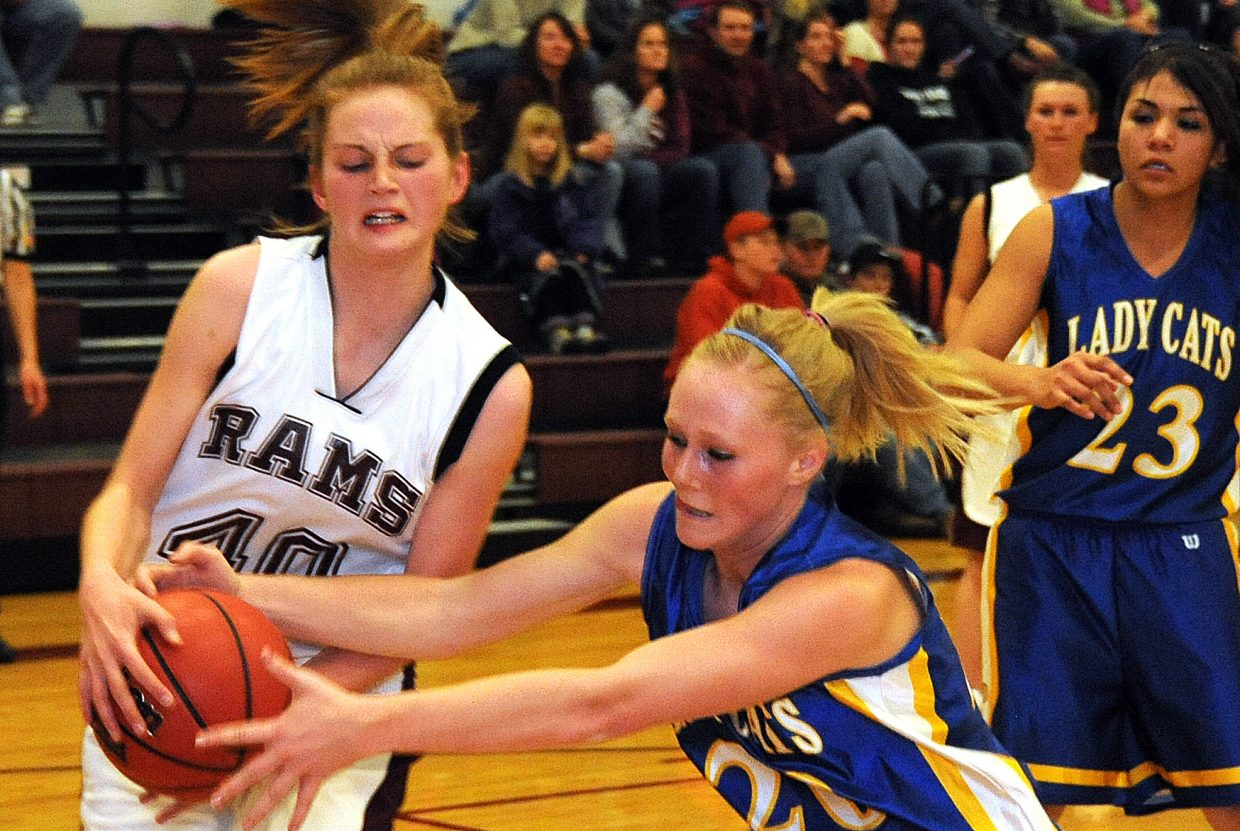 Soroco's Josie Rossi fights for a ball Thursday.