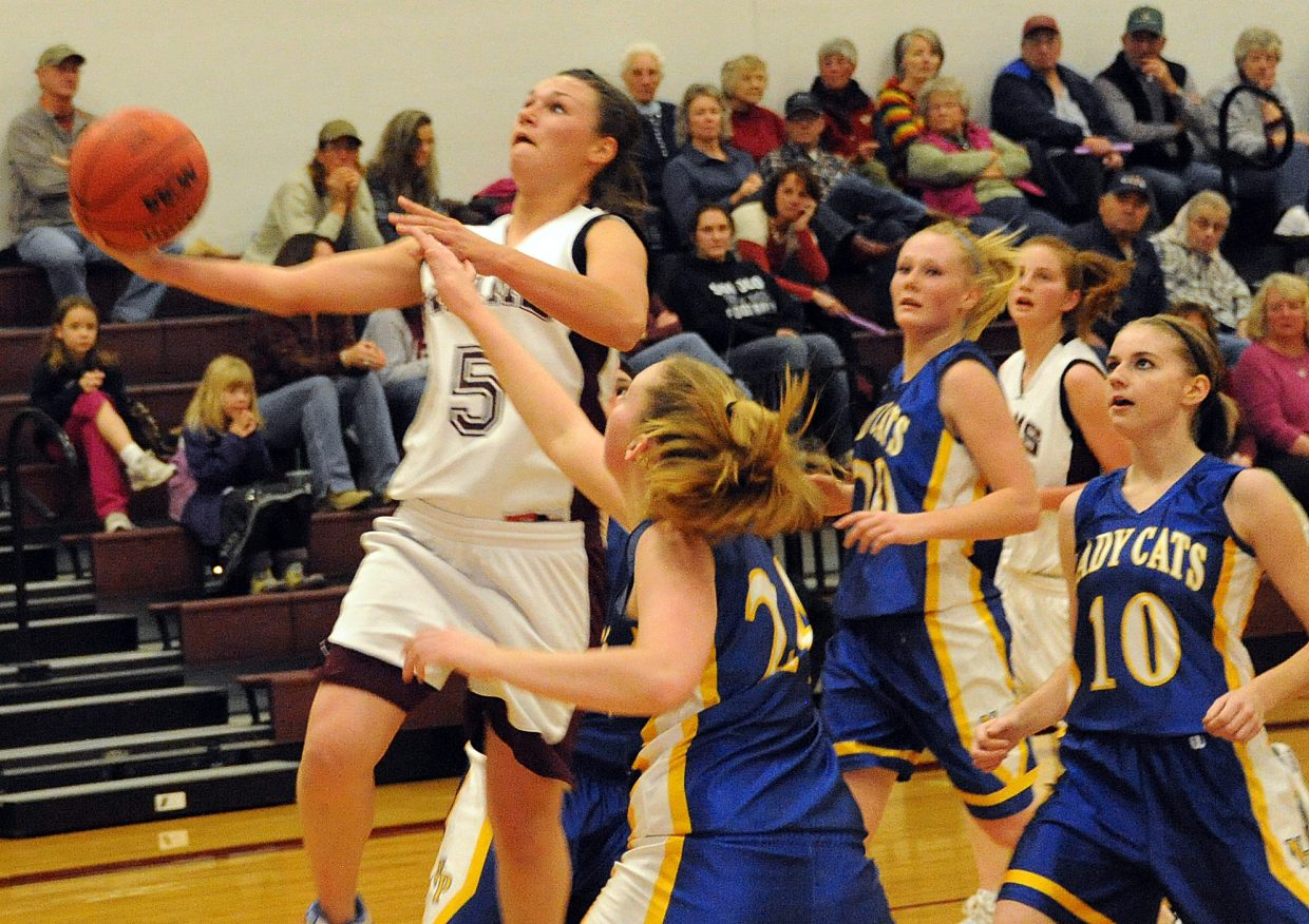 Soroco's Madison George goes up for a layup Thursday.