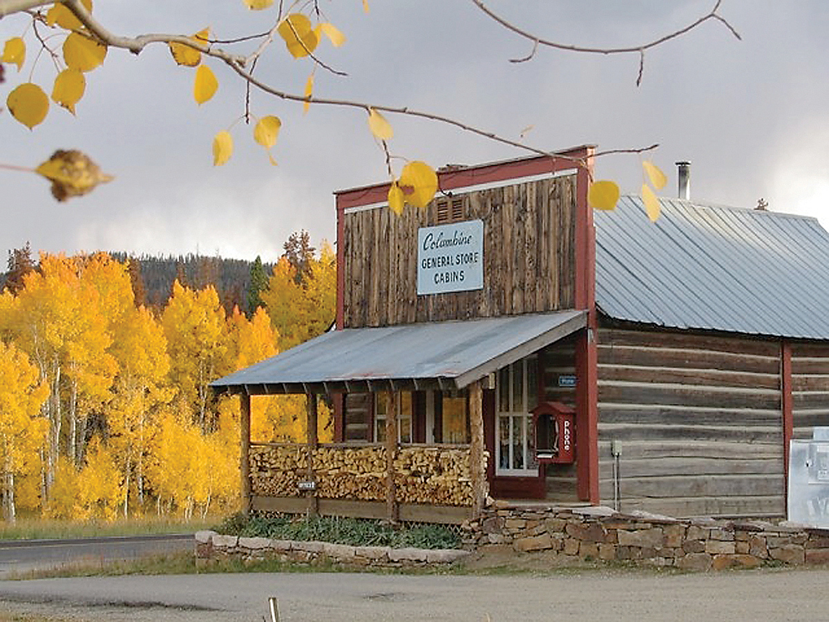 The Columbine General Store started serving cattlemen, gold miners and drivers of horse-drawn freight wagons from Wyoming in the 1890s.