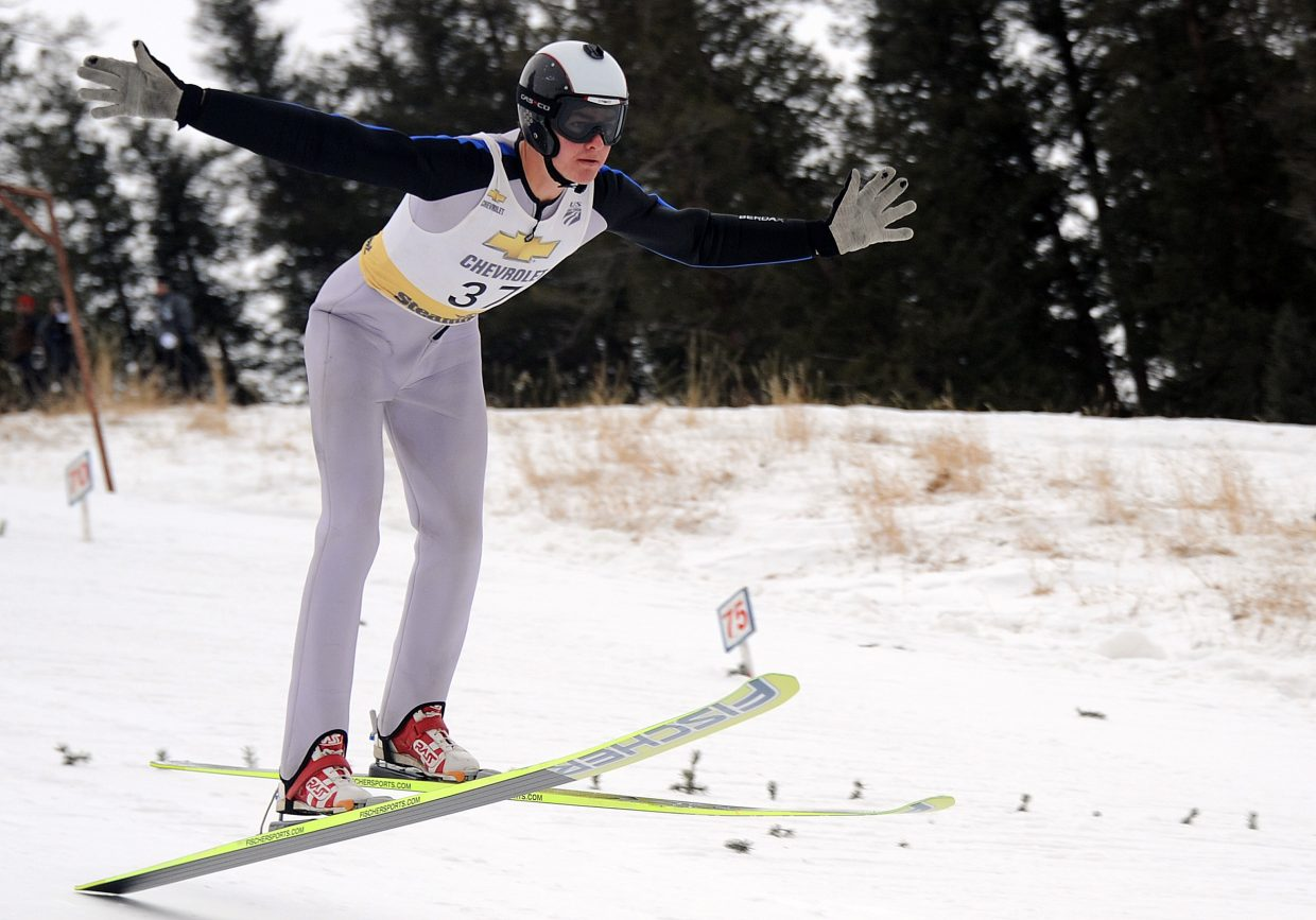 Steamboat's Erik Lynch touches down Saturday in Steamboat Springs.