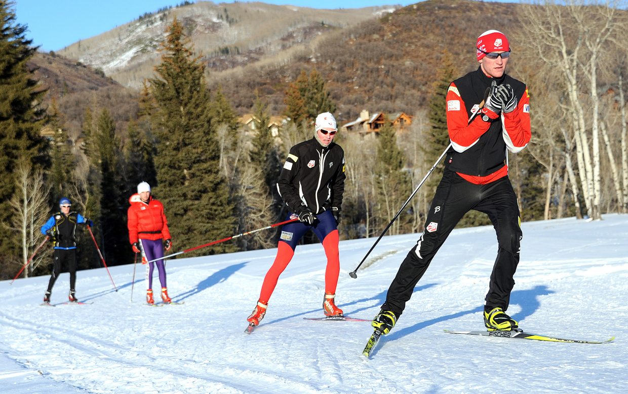 The United States Nordic combined skiers have been able to pick up tips from their Czech Republic guests in jumping while handing down some advice in cross-country skiing.