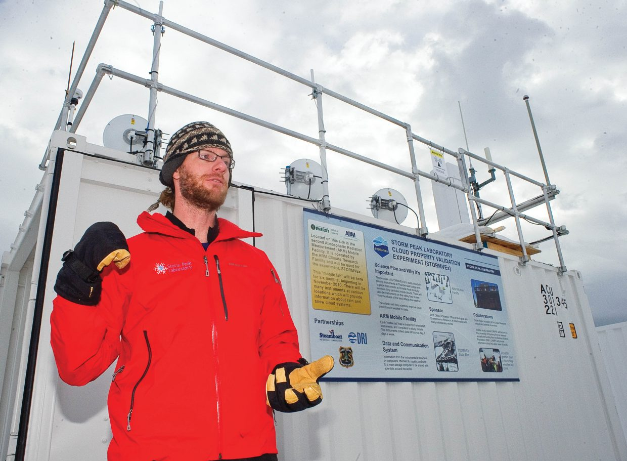 Matt Shupe, co-principle investigator, is helping lead the Storm Peak Laboratory Cloud Property Validation Experiment in Steamboat Springs. Scientist are using locations on the mountain, weather balloons and a base in the valley near Yampa Valley Medical Center to conduct the five-month-long cloud study on Mount Werner.