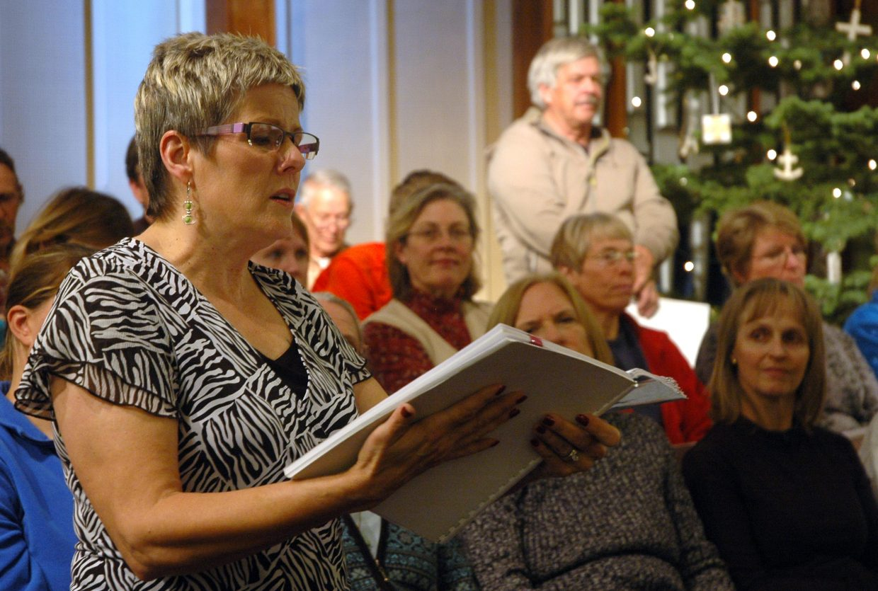 "Juli Montes performs a solo from Handel's ""Messiah"" during a Yampa Valley Singers rehearsal Monday night. The choir will perform its annual holiday concert at 7 p.m. Tuesday at the United Methodist Church of Steamboat Springs. For a video of the rehearsal, visit SteamboatToday.com/videos."