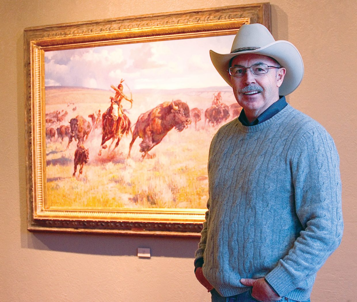 Painter Jim Norton's work, which reflects the Western lifestyle, is featured at Steamboat Art Museum. Norton said he sees the horses and landscapes in his work as symbols of freedom.