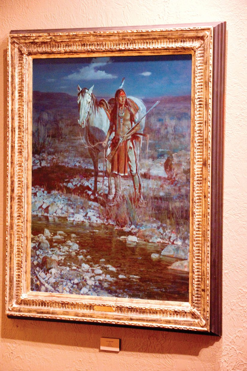 This painting by Jim Norton is being featured at the Steamboat Art Museum. Norton's show will continue until April 10.