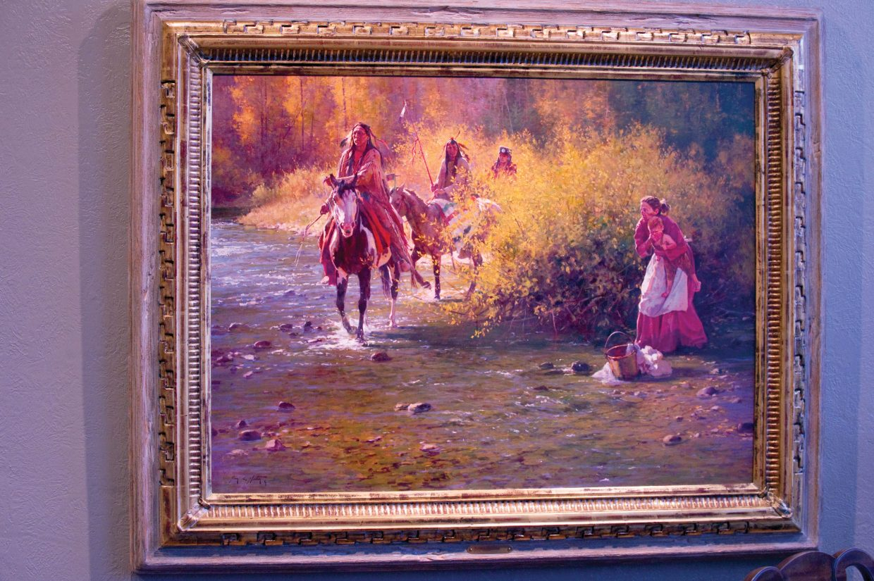 This painting by Jim Norton is being featured at the Steamboat Art Museum. Norton is renowned especially for his paintings of horses.