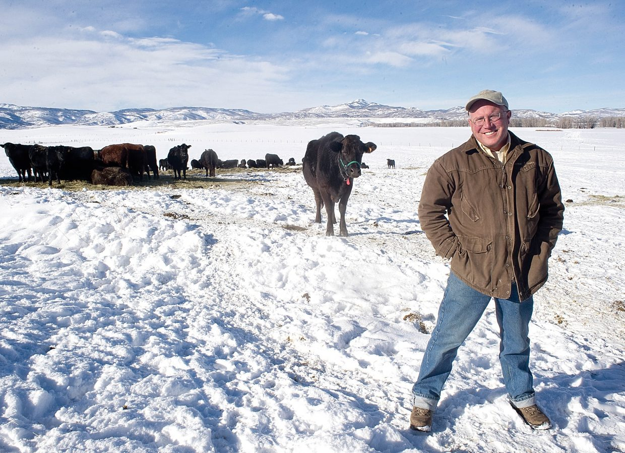"Cattle Rancher John Weibel operates Rockin J Cattle in North Routt County. ""Overall, it's been a great year for cattle prices,"" Weibel said."