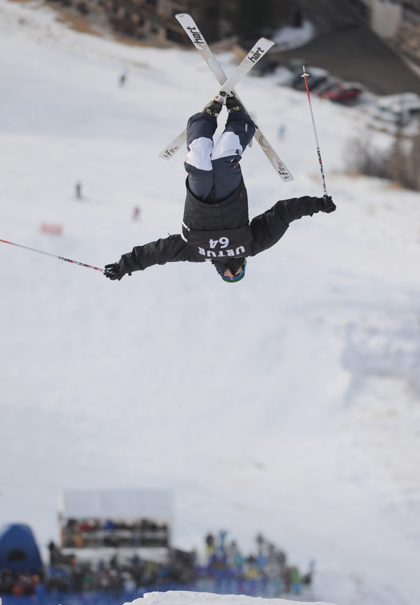 Utah skier Jay Panther lays down a solid run in the finals to win Monday's U.S. Ski Team Selection event at the Steamboat Ski Area.