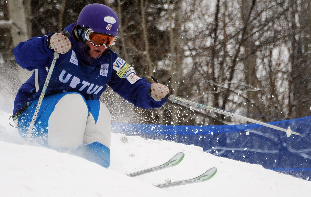 Mikaela Matthews skis Wednesday in the U.S. Freestyle Ski Team selections in Steamboat Springs.