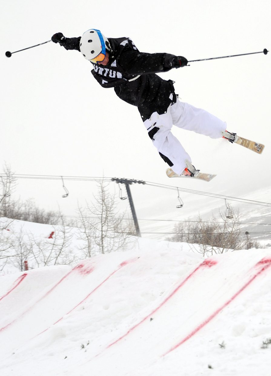 Michael DeGrandis flies off the jump Wednesday at Steamboat Ski Area.