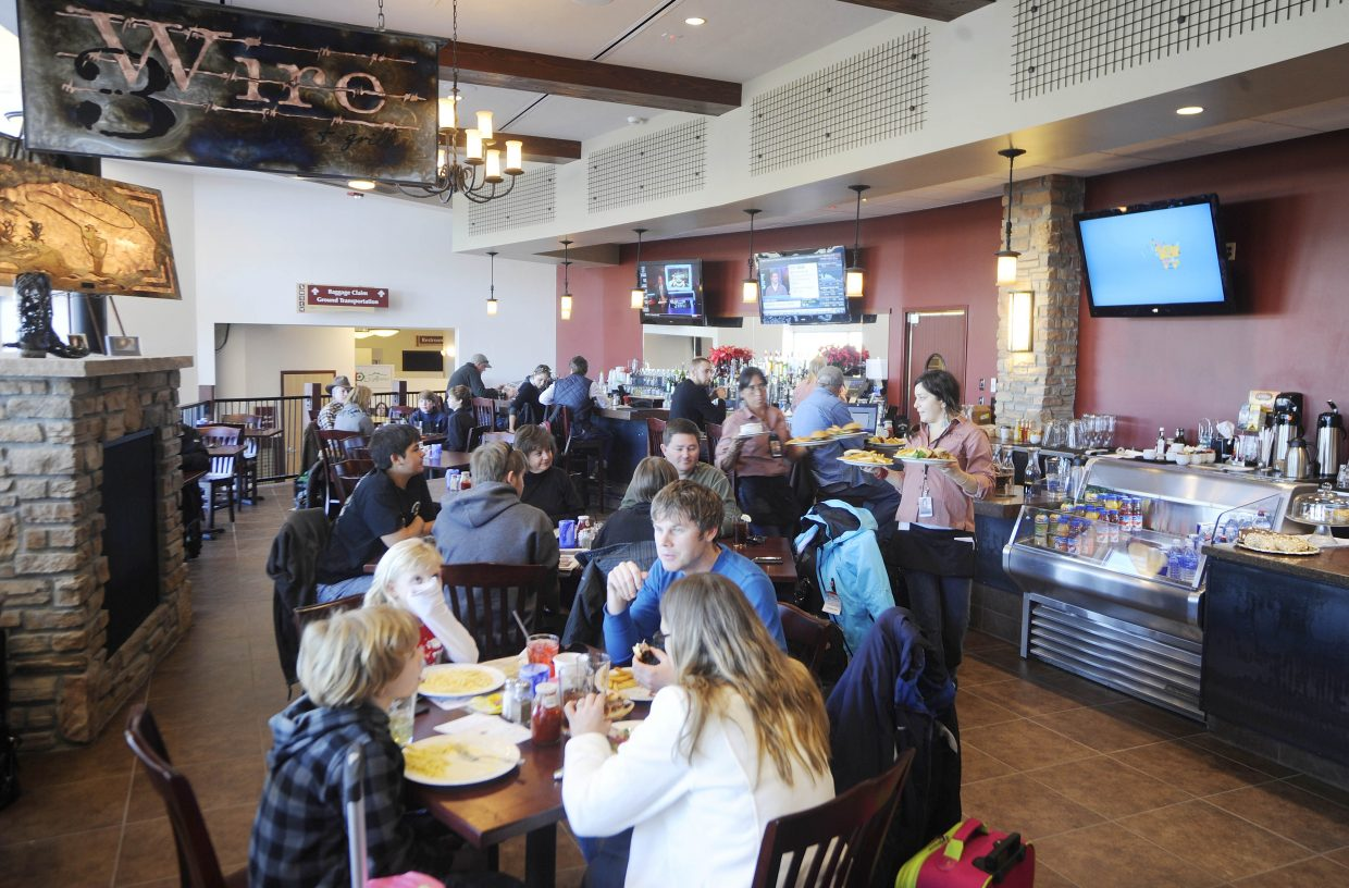 The new Three Wire Bar & Grill was keeping holiday travelers fed Friday at Yampa Valley Regional Airport. Officials say passenger numbers at the airport this ski season are up more than 5 percent from last year.