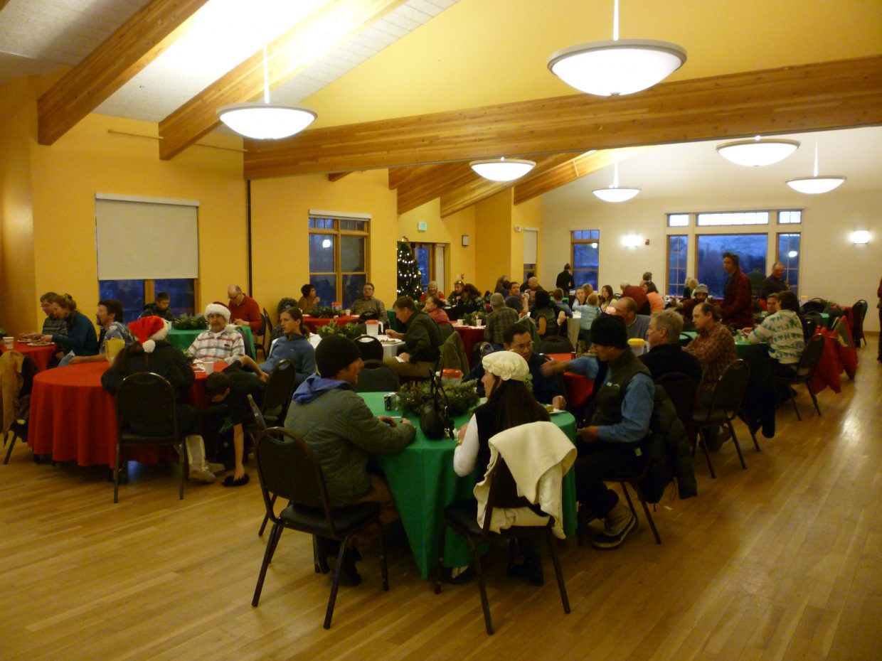 The dining room at the Steamboat Springs Community Center was full for most of the afternoon during the 20th annual Steamboat Springs Board of Realtors Community Christmas Dinner. Organizers expected to serve up to 600 people.